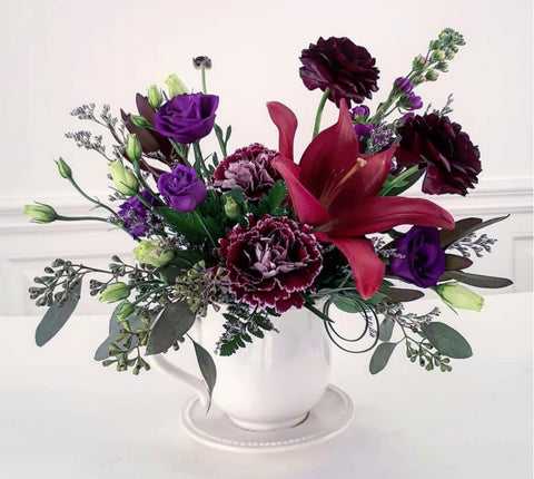 Teacup Arrangement- Dark & Delightful
