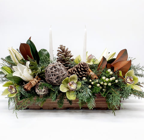 Winter Frost Tablescape