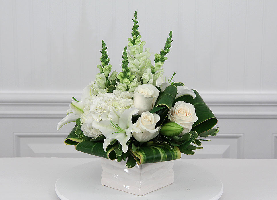 Memories - White Sympathy Flowers