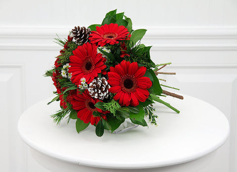 Hand Tied Christmas Bouquet