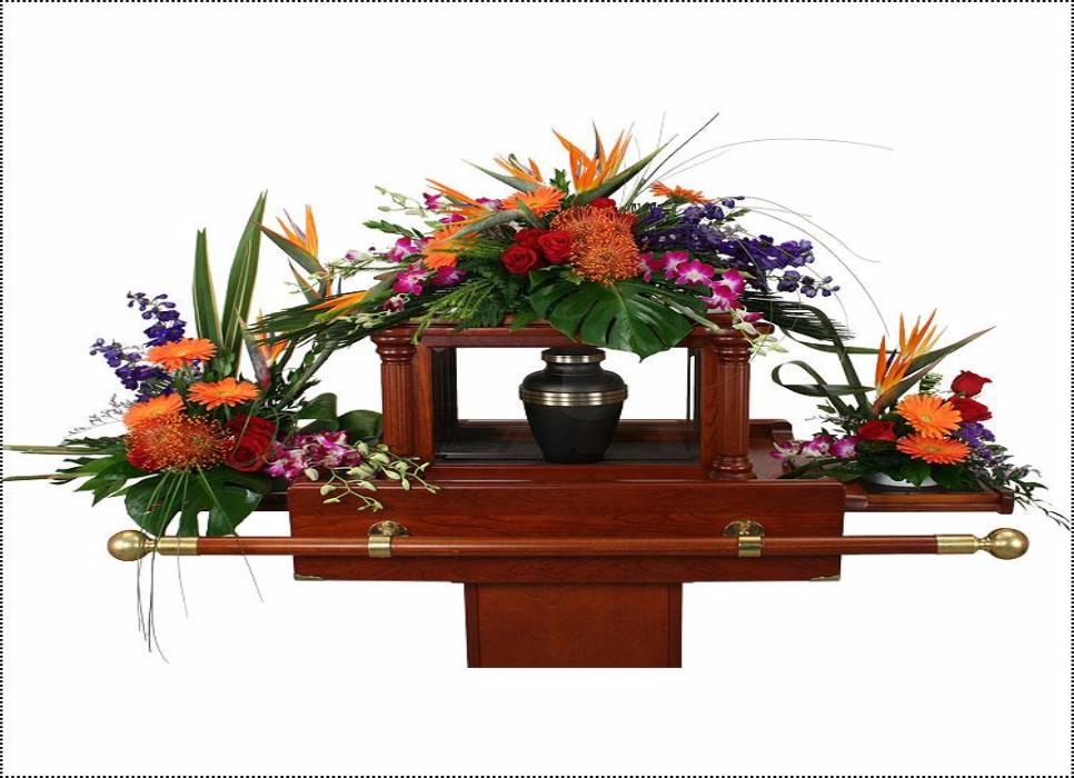 Tropical Paradise Urn Set