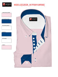 Men's light pink with royal blue trim ecommerce image