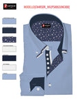 Men's light blue triple collar shirt 7camicie shot
