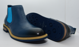 Men's Justin Reece Ethan Navy Blue Boots Pair