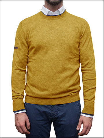 Men's Mustard Yellow Round Neck Jumper