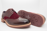 Justine Reece mens brogues Calvin wine pair