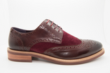 Justin Reece mens brogues Calvin wine side