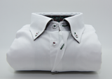Men's plain white button down collar front