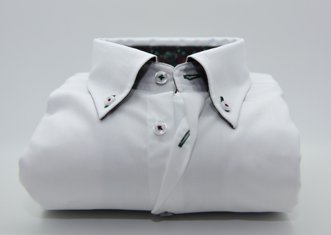Men's Plain White Single Collar Shirt