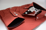 Men's copper brown single collar shirt cuff