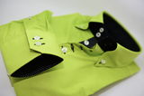 Men's acid green single collar shirt cuff