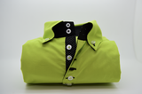 Men's acid green single collar shirt front