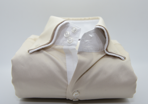 Men's Champagne Shirt with White Double Collar