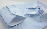Men's light blue shirt small white double collar cuff