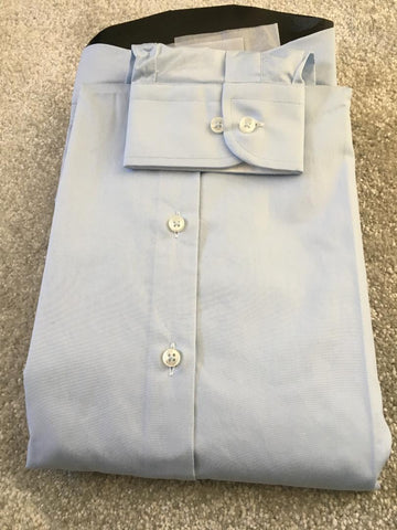 Men's Pale Blue Shirt with White Double Collar