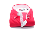 Men's red slim fit shirt single collar front