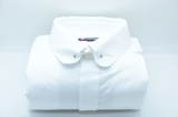 Mens white tie bar shirt front