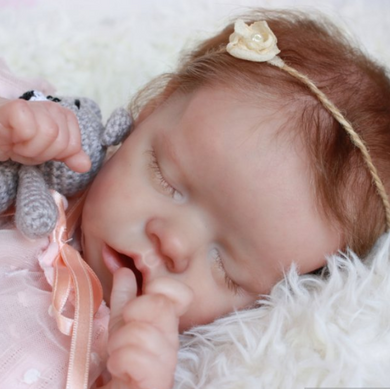 17 inch SoftTouch Real Lifelike Evie Reborn Baby Doll Girl - happybarbies