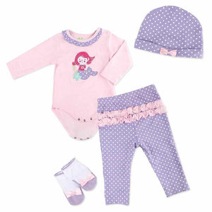 Reborn Dolls Baby Clothes Purple Outfits for 20''- 22'' Reborn Doll Girl Baby Clothing sets