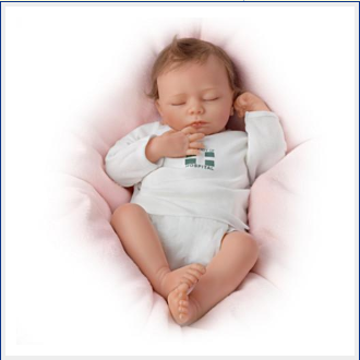 17 inch Little Eileen Reborn Baby Doll - happybarbies