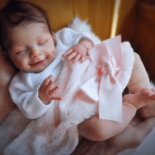 20'' Little Elena Reborn Baby Doll, Realistic Lifelike Toy for Kid Gift - happybarbies