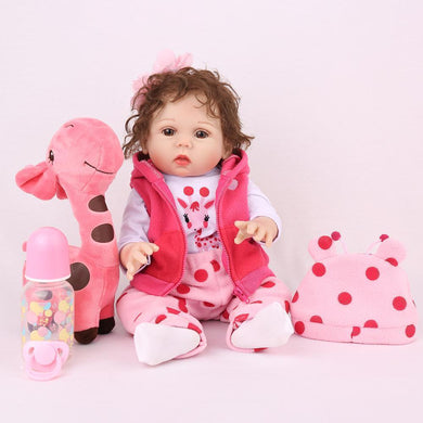 16 inch Little Lillian Real Lifelike Baby Girl - happybarbies