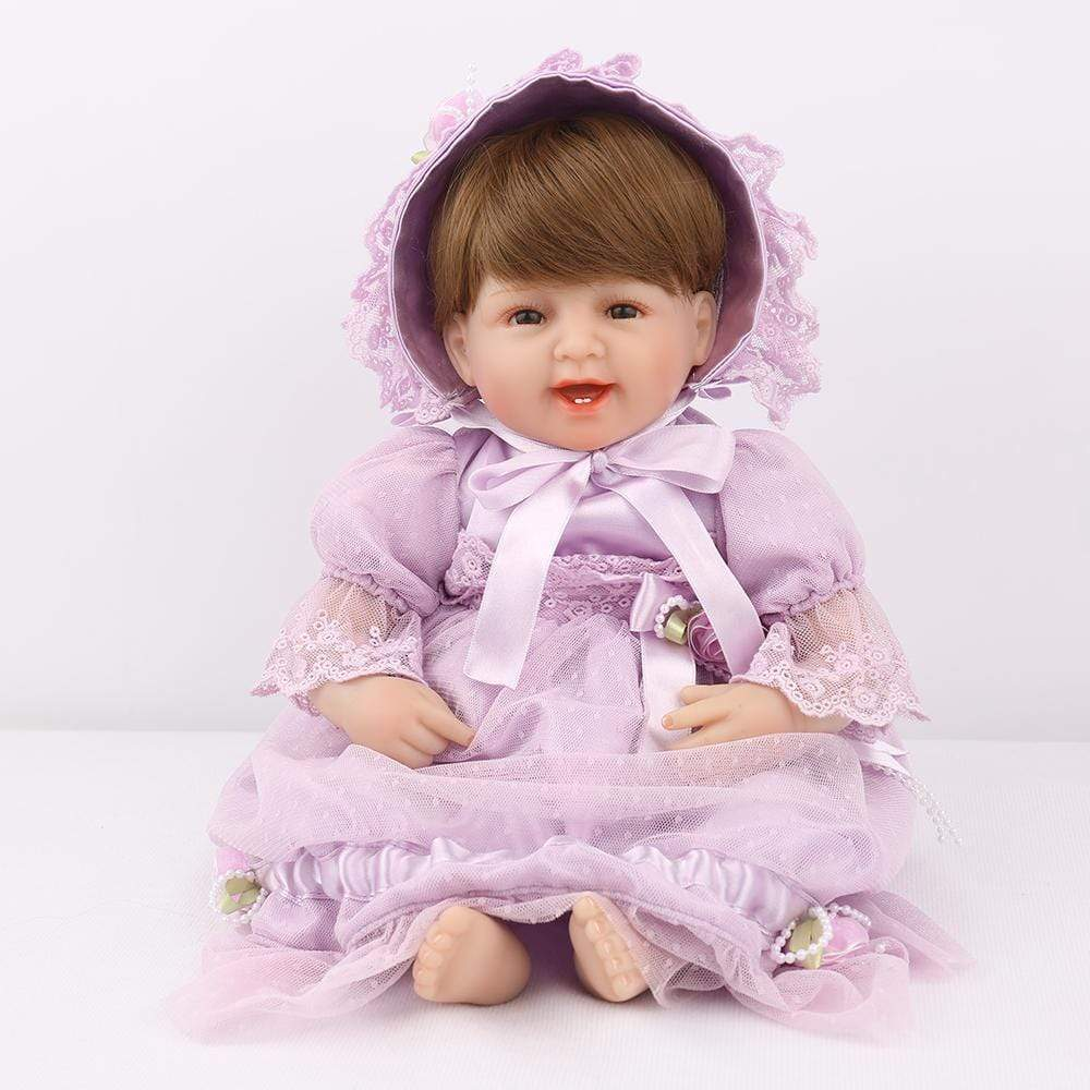 16 inch Little Lily Reborn Baby Doll Girl - happybarbies
