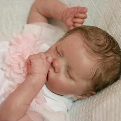 17 inch Real Lifelike Yareli Reborn Baby Doll Girl - happybarbies