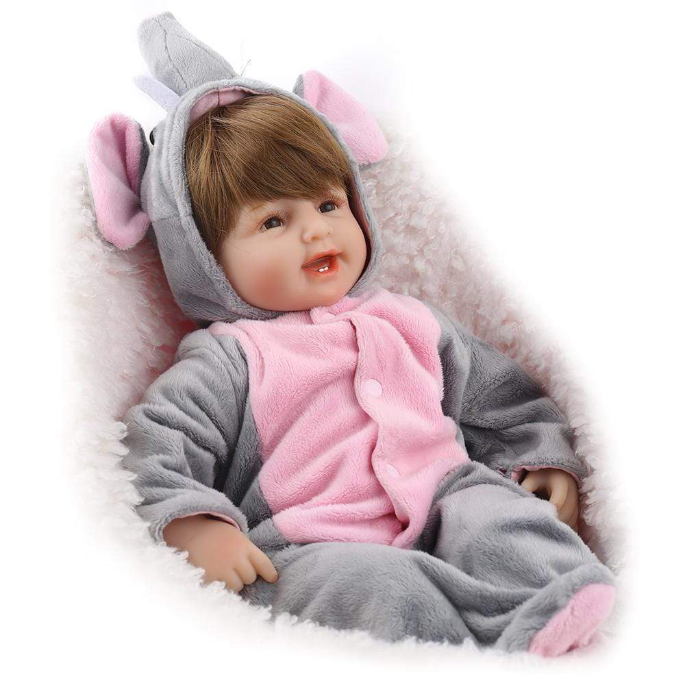 16 inch Little Jacob Reborn Baby Doll Girl - happybarbies