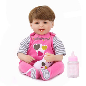 16 inch Little Ethan Reborn Baby Doll Girl - happybarbies