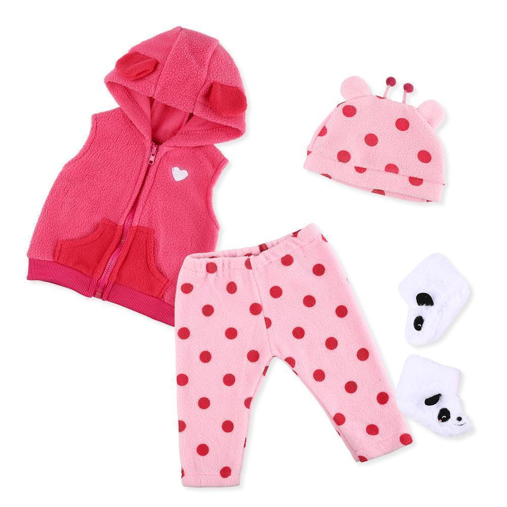 Reborn Dolls Baby Clothes Red Outfits for 20''- 22'' Reborn Doll Girl Baby Clothing sets
