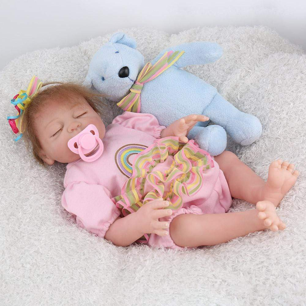 16 inch Little Savannah Real Lifelike Baby Girl - happybarbies