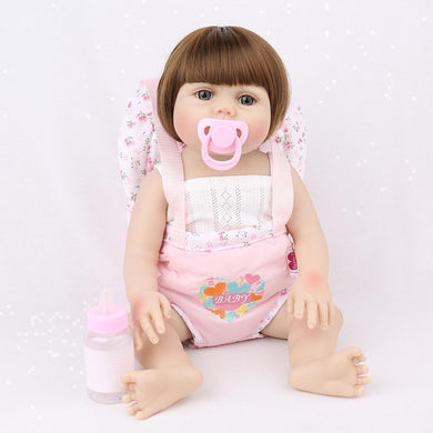 16 inch Little Nora Real Lifelike Baby Girl - happybarbies