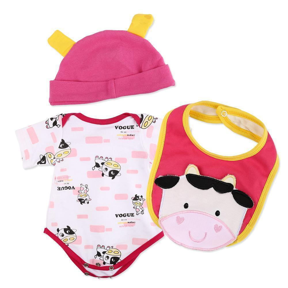 Reborn Dolls Baby Clothes Toy Cow outfit for 20''- 22'' Reborn Doll boy Baby Clothing Outfit Sets