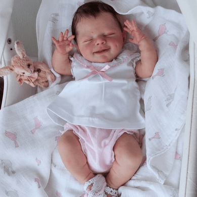 20'' Little Camryn , Lifelike Reborn Baby Doll with Realistic Vinyl - happybarbies