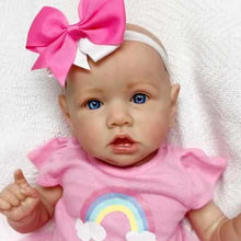 Load image into Gallery viewer, 22'' Little Bald Holland With Blue Eyes, Lifelike Handmade Soft Body Toy, Weighted Reborn Baby Girl