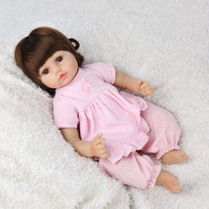 16 inch Little Kailyn Reborn Baby Doll Girl - happybarbies