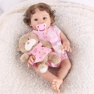 16 inch Little Addison Real Lifelike Baby Girl - happybarbies