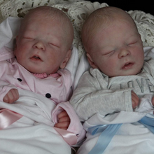 Load image into Gallery viewer, 17.5 '' Real Lifelike Twins Sister Andre and Andrew Reborn Baby Doll Boy