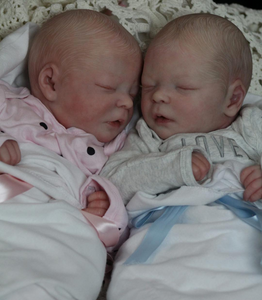 17.5 '' Real Lifelike Twins Sister Andre and Andrew Reborn Baby Doll Boy
