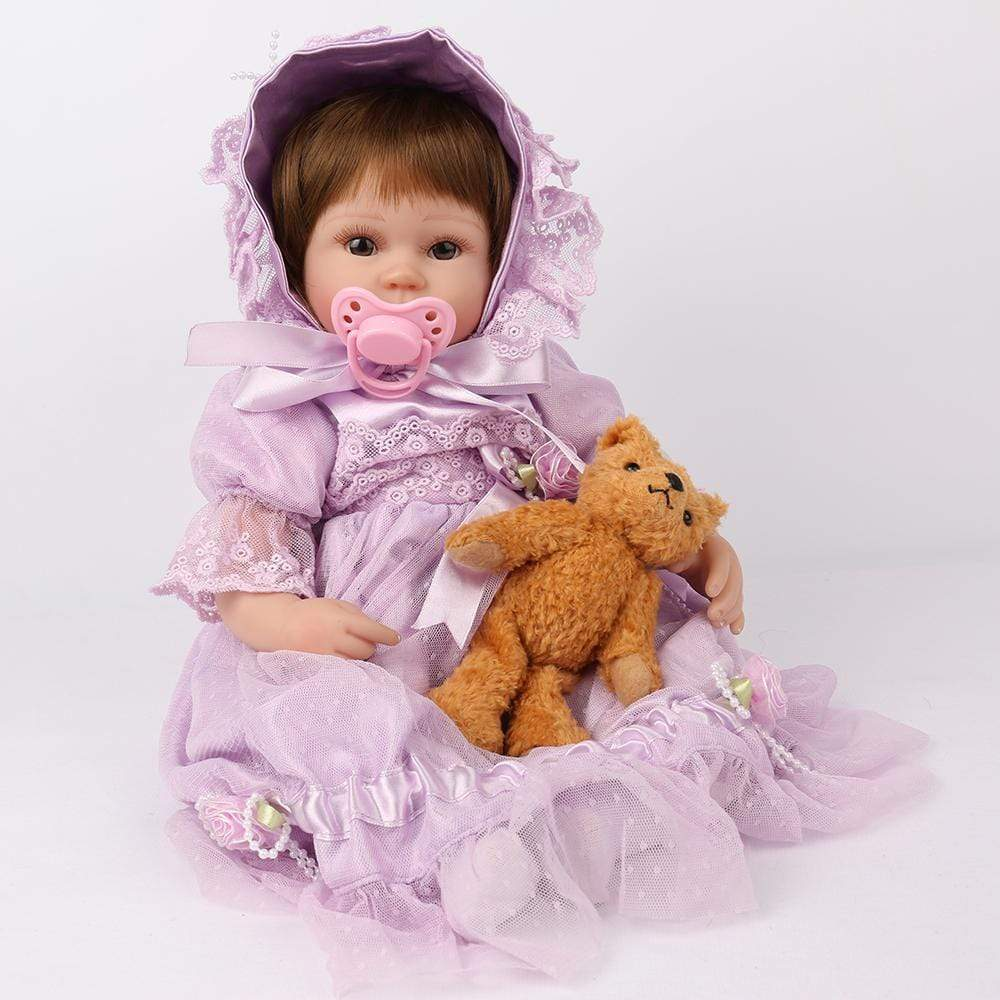 16 inch Little Evelyn Reborn Baby Doll Girl - happybarbies