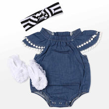 Load image into Gallery viewer, Reborn Dolls Baby Clothes Blue Outfits for 20''- 22'' Reborn Doll Girl Baby Clothing sets