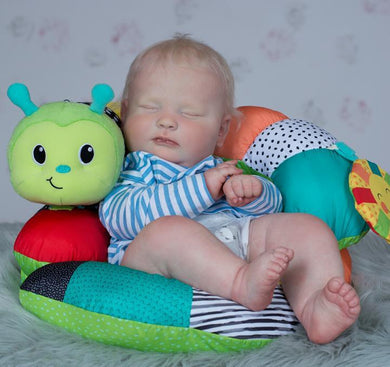 19'' Lilley Asleep Realistic Reborn Baby Doll Boy - happybarbies