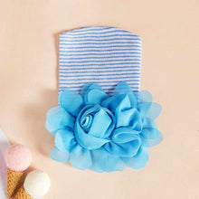 Load image into Gallery viewer, Newborn baby cap pink or blue rose flower cotton shape cap