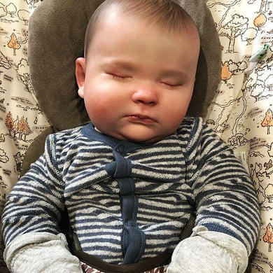 19'' Little Janos Asleep Realistic Reborn Baby Doll Boy - happybarbies