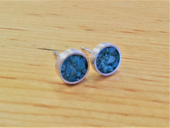 Turquoise and Sterling Silver Studs