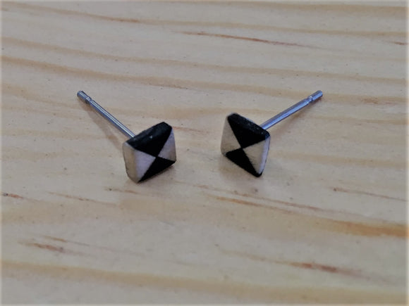 Ebony/Holly Triangle Studs
