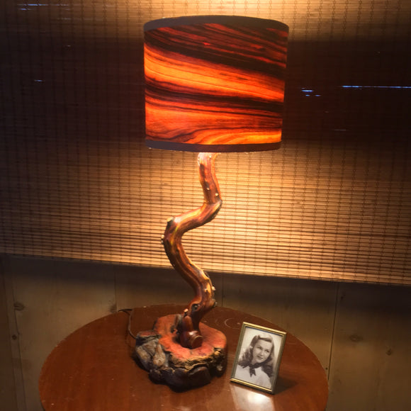 Manzanita and Camphor Table Lamp