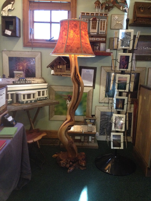Juniper and Manzanita Floor Lamp (sold)