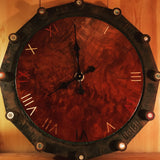 Water Pipe Flange/ Redwood Burl Clock